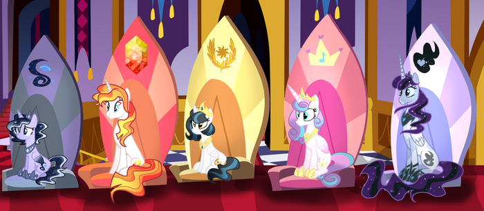 The Princesses of Equestria by ThePegasisterPony