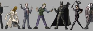 Batman and Villains - from the Nolanverse by kinjamin