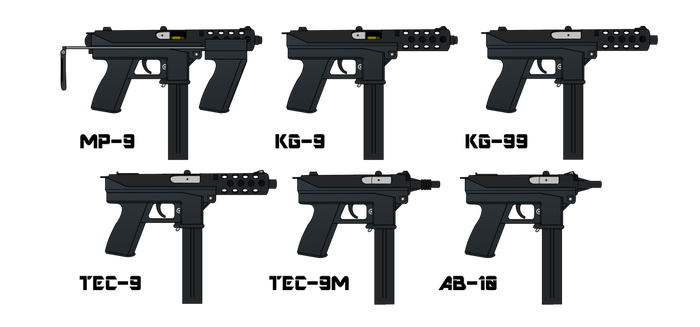 Intratec/Interdynamic Tec/KG/MP SMGs and Pistols by ColumbianSFR
