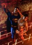 Superman rescues Chell by Deniszizen