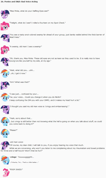 26. Ponies and DnD: Bad Voice Acting by dziadek1990