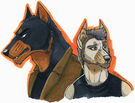 Sand dogs by MadDogVII
