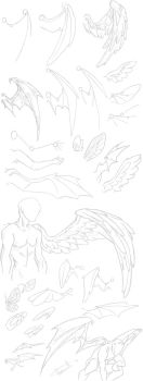 How To Draw Wings by Punklord117