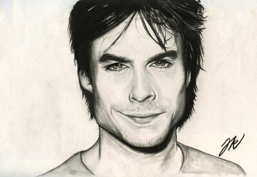 Ian Somerhalder alias Damon Salvatore by jeanetkristensen