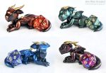 Metallic D20 Guardian Dragons by HowManyDragons