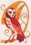 Whimsical Owl by justjingles