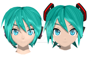 NEW DT mikuo wip 3[Head] by Akisuky-san