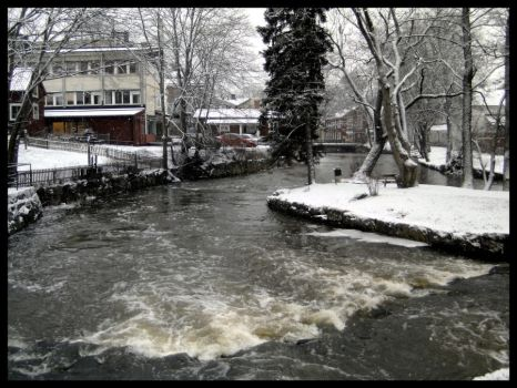 winter stream by seabrownthree