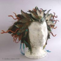 Roots and Wings Leather Crown by Beadmask