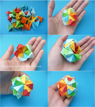 Making an Origami Small Triambic Icosahedron by OrigamiPieces