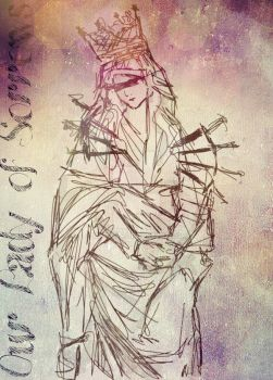 our lady of sorrows by Kaethze
