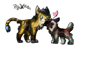 Blue and Zay!! by gone-from-deviantart