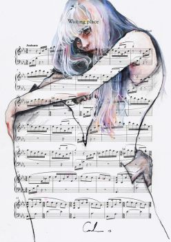 Waiting Place on sheet music by agnes-cecile