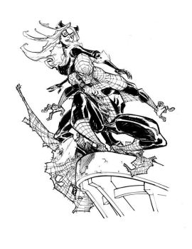 SPIDERMAN and BLACK CAT by EricCanete