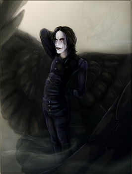 tribute to Brandon Lee by Anarchpeace