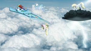 Pegasi in the clouds [PIRL] by colorfulBrony