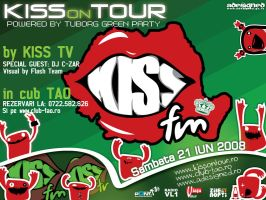 flyer ClubTAO - KissONtour by semaca2005