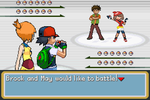 Ash and Misty vs Brock and May by BeeWinter55