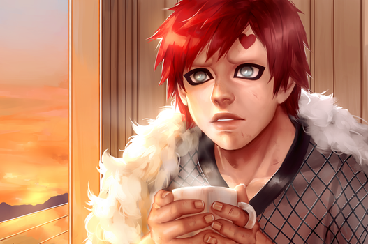 Gaara - After the battle by Allegro97
