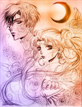 Serenity and Endymion sketch by Giname
