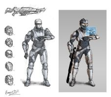 Sci-Fi Trooper Concept by AGRbrod