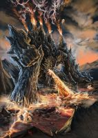 BURNING COLOSSUS by RAEH