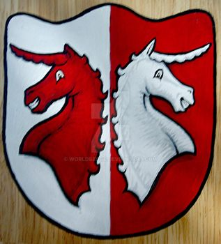 Coat of Arms with Unicorns by WorldsEdge