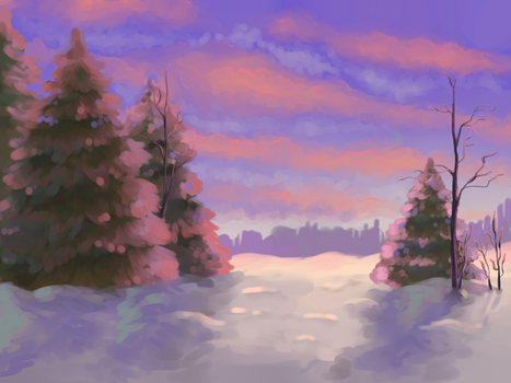 Winter forest by Tamami-tyan