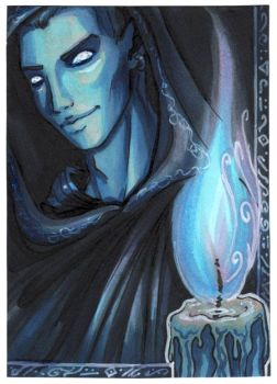 ACEO -The Warlock- by CrescentMoon