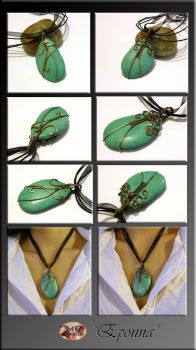 Eponna- wire wrapped pendant by mea00