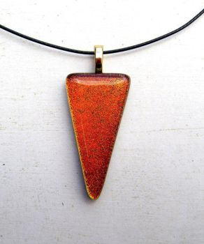 Golden Triangle Fused Glass Necklace by FusedElegance