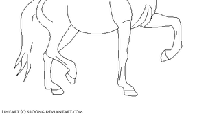 Free horse lineart by Stroong