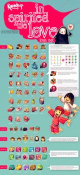In Spirited We Love Icon Set [Repost] by Raindropmemory