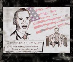 Barack Obama and Abe Lincoln Tribute by Dukester2000