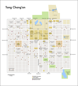 Tang Dynasty Chang'an by HomemadeMaps