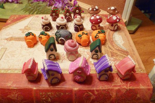 Miniature Fairy Door/House selection by FlyingFrogCreations