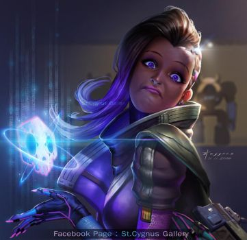 Fan Art : Sombra Overwatch by StCygnus