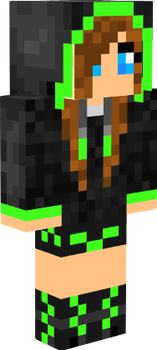 My MineCraft Skin! by GloGreenKitKat