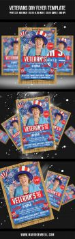 Veterans Day Flyer Template by MarioGembell