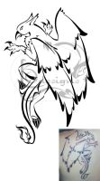 Another Gryphon tattoo by Lemondragon