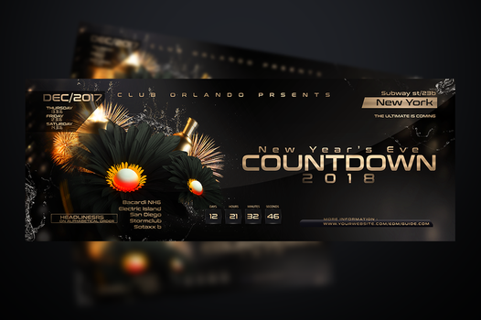 NYE Flyer template by stormclub