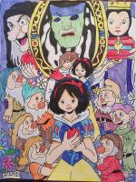 Snow White and the Seven Dwarfs  by GhibliLover92