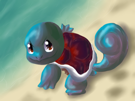 Squirtle On The Beach by Chicorii