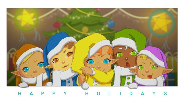 christmas elves by daimontribe