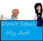 Don't Steal My Art stamp by Kairi-The-Siren