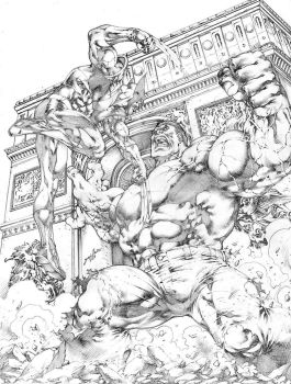 Commission Hulk vs Wolverine JL by JoseLuisarts