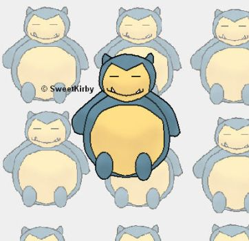 Little Snorlax for Obra-obrao by SweetKirby