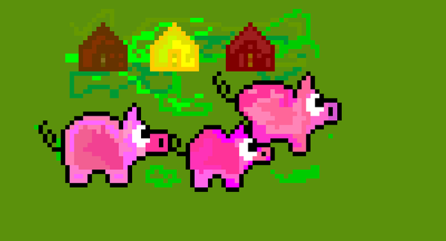 The Three Little Prized Porkers by CuddlyBrainMakesArt