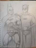 Batman to Batman: Comics and TV by MisterHydesSon
