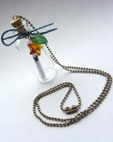 Kingdom Hearts King Mickey's Letter Necklace by PaintIt13lack
